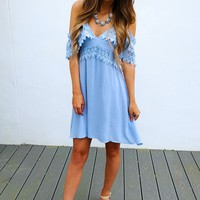 A Little Reflection Dress: Powder Blue