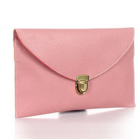 Minus the Leather Pink Clutch