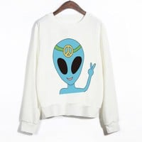 Blue Alien Queen East Knitting Sweatshirt (S-XL)
