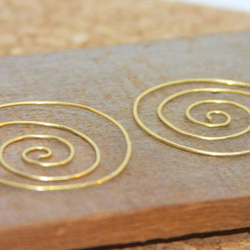Swirl Hoop Earrings, Light Weight Jewelry, Gold Hoops Earrings, Modern Hoop Earrings, Boho Hoop Earrings,  Everyday Earrings, Gift for Her