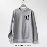 Platform 9 3 4 Sign Shirt Harry Potter Sweatshirt Sweater Unisex