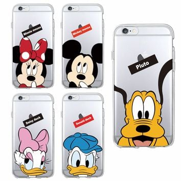 For iPhone 7 7Plus 6S 5S 8 8Plus X XS Max SAMSUNG Cute Minnie Mickey Mouse Daisy Donald Duck Pluto Soft Phone Case Fundas Coque