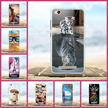 For Xiaomi Redmi 4A Case Soft Silicone Fundas Coque For Redmi 4A Back Cover 3D Animal Cute Bags Shell For Hongmi 4A Phone Cases