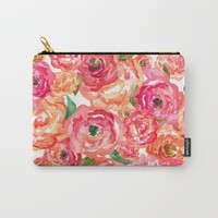 Bed of Roses Carry-All Pouch by Allison Reich