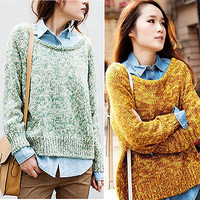 New Women Batwing Sleeve Knitted Cardigan Loose Casual Sweater Lady Coat