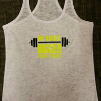 My Rack Is Bigger Than Yours Burn Out Fitness Tank Top. Burn Out Gym Shirt. Fitness Tank. Woman's Work Out Clothing. Racer back Tank this l