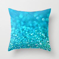 Blue Blue Sky Throw Pillow by Lisa Argyropoulos