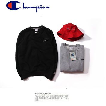 Thicken Winter Simple Design Couple Pullover Hoodies [9070630211]