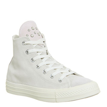 Converse All Star Hi Leather Egret Pale Quartz Blush Pearl Exclusive - Hers trainers