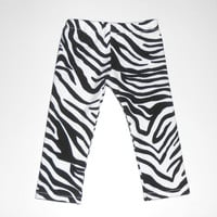 18 inch Girl Doll Clothes Zebra Stripe Leggings Black and White Knit Pants