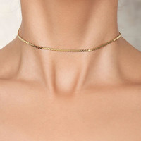 Gold Thin Chain Choker