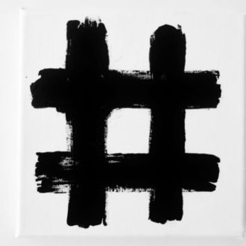 Original Modern Painting Black and White Modern Abstract Art Geometric Line Minimalism Painting 6 x 6 inch Canvas FREE SHiPPiNG Canada & US