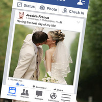 60% OFF Personalised Facebook photo booth prop frame file Perfect for Weddings, Birthdays, Business Exhibitions and any other event!