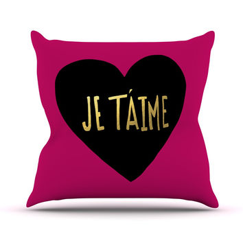 "Leah Flores ""I Love You in Francias"" Je T'aime Throw Pillow"