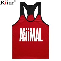Riinr 2017 Summer Fashion Brand Gyms Tank Tops Men Bodybuilding  Mens Crossfit Vests Singlets Muscle Printed Tanks Top Punisher
