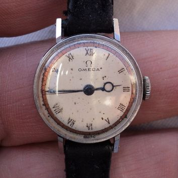 Vintage Omega Wristwatch 17 Jewels OXG Swiss Movement As Is