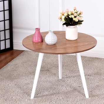 Modern Round Coffee Table Side Tea End