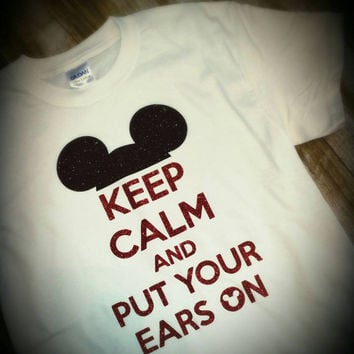 Mickey/Minnie mouse -- keep calm and put your ears on tshirt