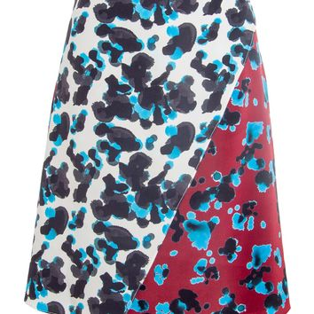 Tanya Taylor Ink Spot Combo Shortened Ava Skirt