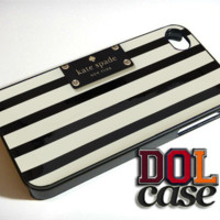 Kate spade striped black-white iPhone Case Cover|iPhone 4s|iPhone 5s|iPhone 5c|iPhone 6|iPhone 6 Plus|Free Shipping| Delta 103