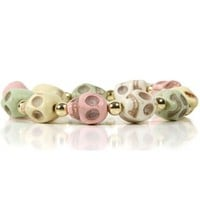 Multicolored Skull Bracelet