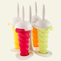Orka by Mastrad Popsicle Molds, Set of 4