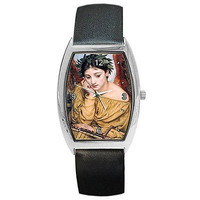 Classical Women Angel and a Womens Barrel Watch w/Leather Bands  **