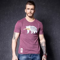 Fashion Men's Fashion Cotton Short Sleeve Strong Character Print Summer Slim T-shirts [10488644355]