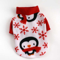 Etsy Dog Sweaters Winter Penguin Fleece Clothes