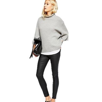 Swagger Dynasty Turtleneck Roll High Neck, Pullovers Loose Sweater, Mujer Veste Militaire Jacket