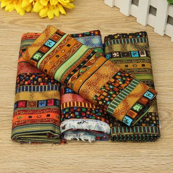 4PCS Cotton and Hemp Pre-Cut Cotton Quilt Cloth Fabric for Sewing Cloth Decoration 50x70cm