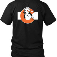 Denver Broncos Colorado 2 Sided Black Mens T Shirt
