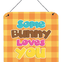 Easter Some Bunny Loves You Wall or Door Hanging Prints BB6902DS66