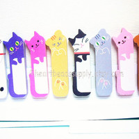 Cute cats sticky post it notes, back to school, office stationery, index tab, kawaii paper goods, memo pad, id1360718, Sticky Notes Tab