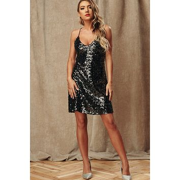 Bling Baby Sequin Dress (Black)