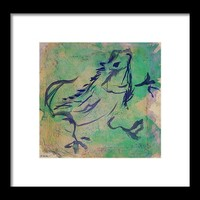 Dancing Iguana Framed Print by Shawna Rowe