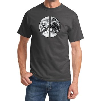 Buy Cool Shirts Peace T-shirt Earth Satellite Symbol T-shirt