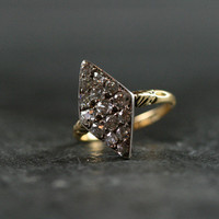 Antique Diamond Marquis Engagement Ring by Ruby Gray's | Ruby Gray's