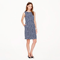 Petite half-placket dress in tossed hearts