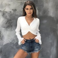 Admire You Ivory Crop Blouse