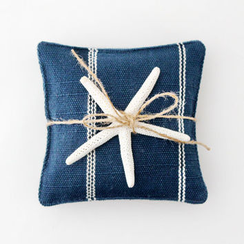 Nautical Striped Navy Blue Lavender Sachets, Modern Style, Beach Decor