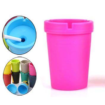 Portable Auto Car Truck Cigarette Smoke Ashtray Double Layer Candy Colors ABS Ash Cylinder Cup Holder Hot Sale