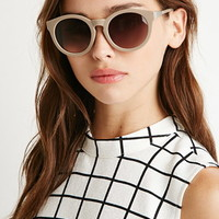 Round Notched-Bridge Sunglasses