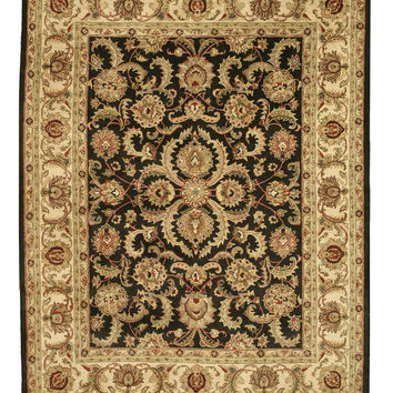 Hand-tufted Wool Black Traditional Oriental Persian Rug