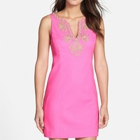 Women's Lilly Pulitzer 'Gabby' Embroidered Jacquard Sheath Dress,