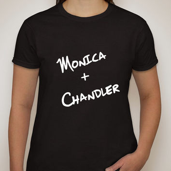"Friends TV Show F.R.I.E.N.D.S ""Monica + Chandler"" T-Shirt"