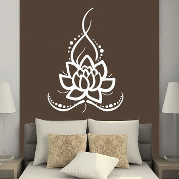 Sacred Lotus Flower Vinyl Wall Decal