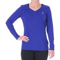 U.S. Polo Assn. Womens Signature V-Neck Shirts & Tops