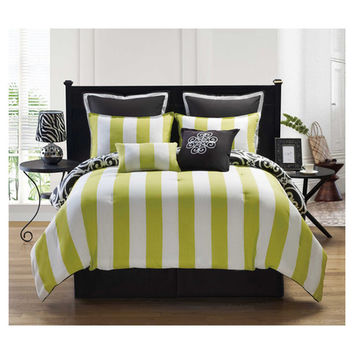 You should see this Kennedy Reversible Comforter Set in Black & White on Daily Sales!