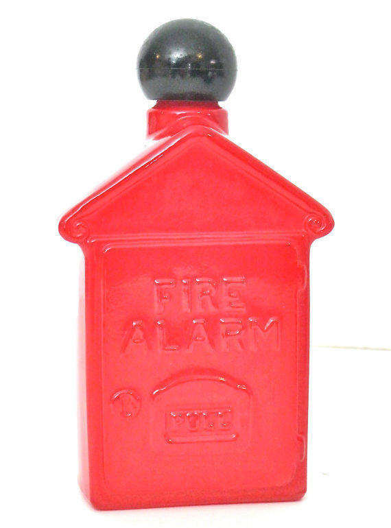 ON SALE Vintage Red Bottle Avon Collectible Fire Alarm Box Mens Spicy After Shave Collectible